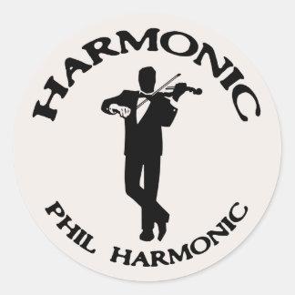 Harmonic, Phil Harmonic Classic Round Sticker