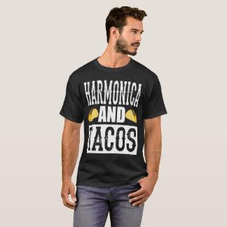 Harmonica and Tacos Funny Taco Band T-Shirt