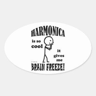 Harmonica, Brain Freeze Oval Sticker