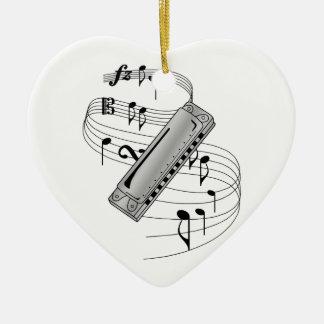 Harmonica Ceramic Ornament