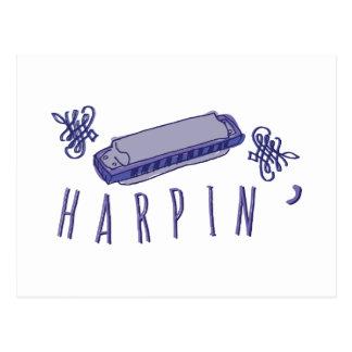 Harmonica Harpin Postcard