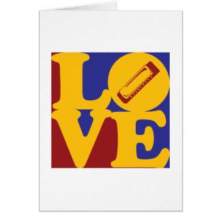 Harmonica Love Card