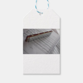 Harmonica Music Notes Book Gift Tags