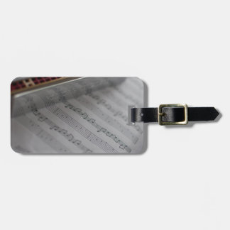 Harmonica Music Notes Book Luggage Tag