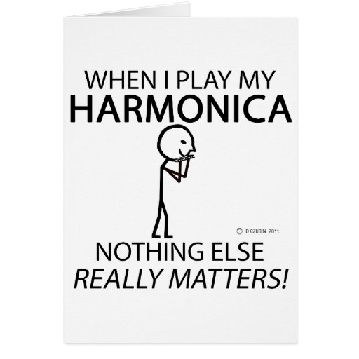 Harmonica Nothing Else Matters Greeting Card