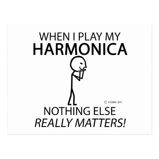Harmonica Nothing Else Matters Postcards