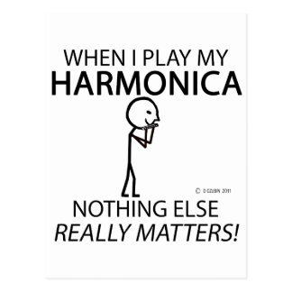 Harmonica Nothing Else Matters Post Card