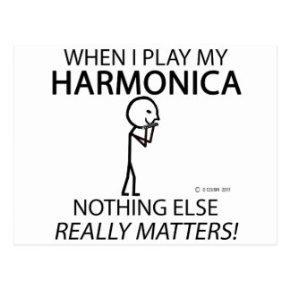 Harmonica Nothing Else Matters Postcard