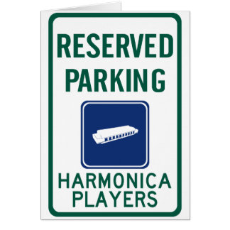Harmonica Players Parking Card