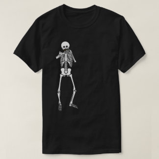 Harmonica Playing Skeleton T-Shirt