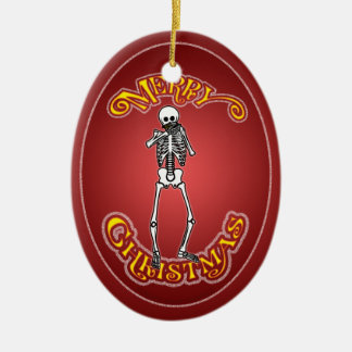 Harmonica Skeleton Personalized Christmas Ornament