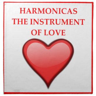 HARMONICAS CLOTH NAPKINS