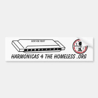 Harmonicas for the Homeless Bumper Sticker