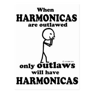 Harmonicas Outlawed Postcard