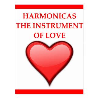HARMONICAS POSTCARD