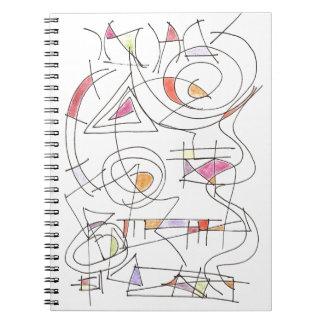 Harmonious-Abstract Art Print Spiral Note Book