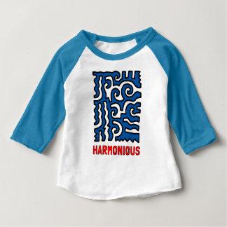 """Harmonious"" Baby 3/4 Raglan T-Shirt"