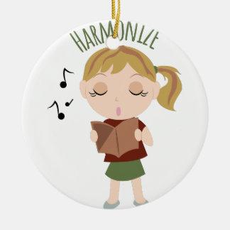 Harmonize Girl Ceramic Ornament