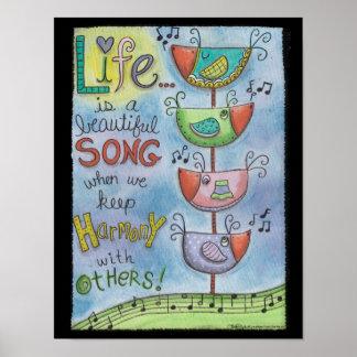 Harmonizing Birds-Quartet Poster