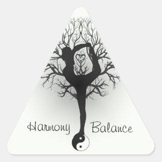 Harmony and Balance Customizable Triangle Sticker