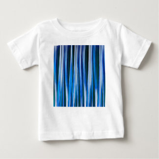 Harmony and Peace Blue Striped Abstract Pattern Baby T-Shirt