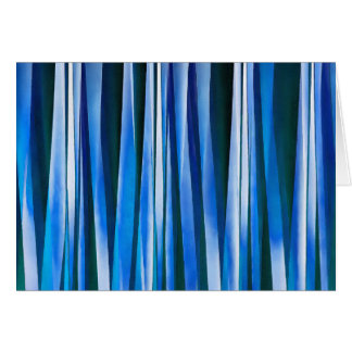 Harmony and Peace Blue Striped Abstract Pattern Card