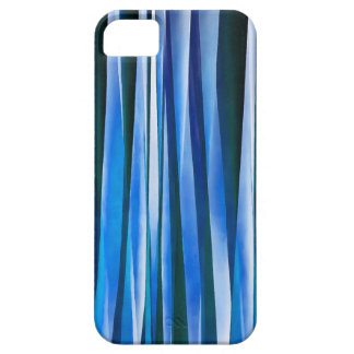 Harmony and Peace Blue Striped Abstract Pattern iPhone 5 Covers