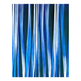 Harmony and Peace Blue Striped Abstract Pattern Letterhead