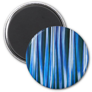Harmony and Peace Blue Striped Abstract Pattern Magnet