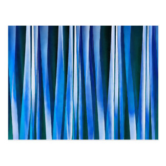 Harmony and Peace Blue Striped Abstract Pattern Postcard