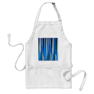 Harmony and Peace Blue Striped Abstract Pattern Standard Apron