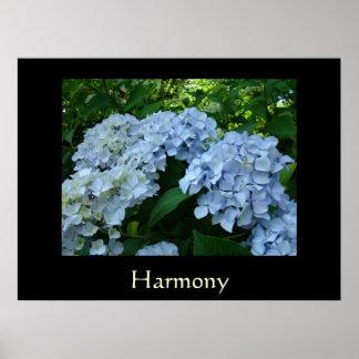 Harmony Art Print gifts Blue Hydrangea Flowers