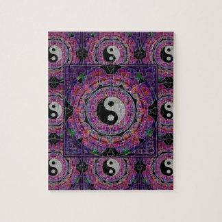 Harmony & Balance Purple Mandala Jigsaw Puzzle