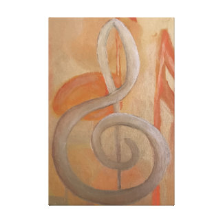 Harmony Fine Art Music Painting Canvas Print