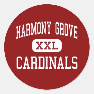 Harmony Grove - Cardinals - Middle - Benton Classic Round Sticker