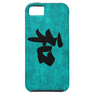 Harmony in Blue Chinese Character Painting Case For The iPhone 5