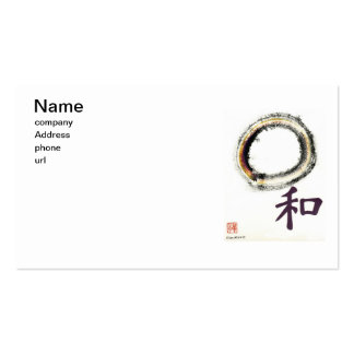 Harmony in Purple, Enso Business Card