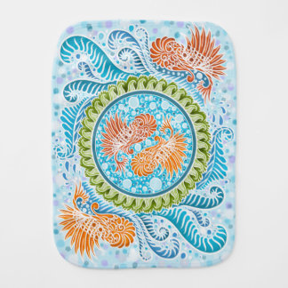 Harmony of the seas ,boho,hippie,bohemian burp cloth