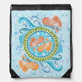 Harmony of the seas ,boho,hippie,bohemian drawstring bag