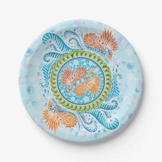 Harmony of the seas ,boho,hippie,bohemian paper plate