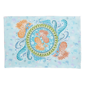 Harmony of the seas ,boho,hippie,bohemian pillowcase