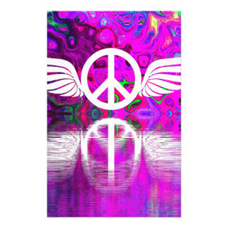 Harmony peace and hope for the human world customized stationery