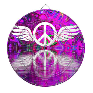 Harmony peace and hope for the human world dartboard