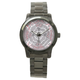 Harmony Red Black and White watch