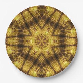 Harmony Seal Mandala 9 Inch Paper Plate