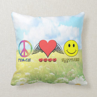 Harmony - Wishing you Peace, Love and Happiness! Throw Pillow