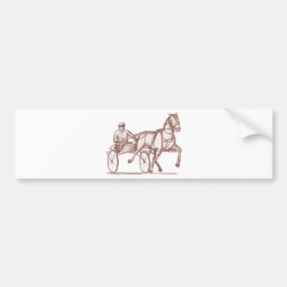 Harness racing engraving bumper sticker