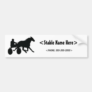 Harness Racing Standardbred Logo Bumper Sticker