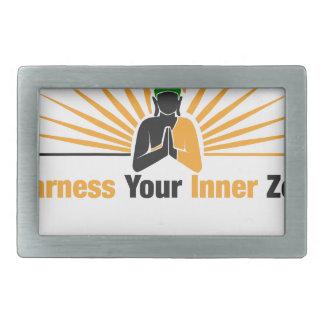 Harness Your Inner Zen Rectangular Belt Buckles