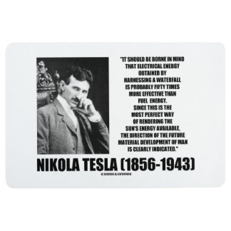 Harnessing A Waterfall Sun's Energy Tesla Quote Floor Mat